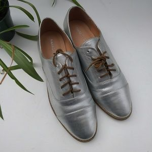 Silver Flat Loafer Shoes